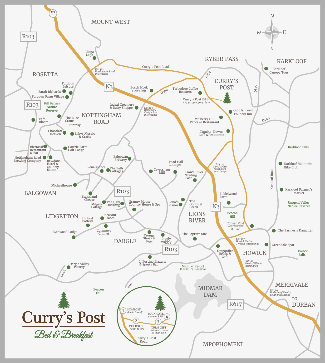 Attractions | Curry's Post B&B